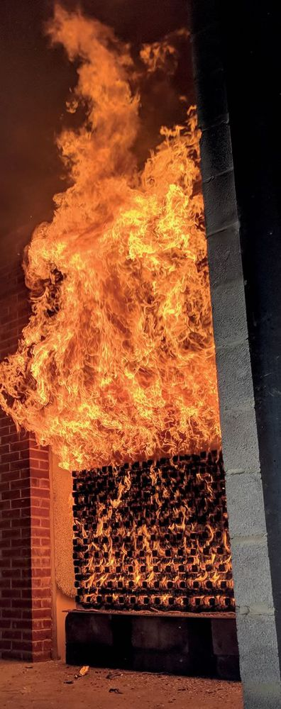 Photo of fire testing facilities in use at Resilient Building Solutions